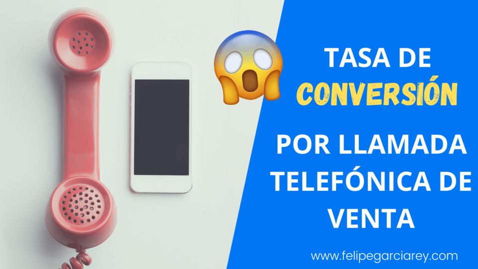 Tasa de conversión por llamada telefónica en las ventas